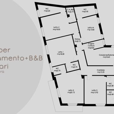 Interior design for private house+B&B (Cagliari, Italy)