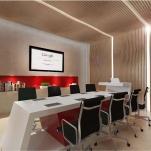 Interior design, 3d visualization and rendering of meeting room and reception area for the Hamdan Innovation Incubator - HI2 - Dubai SME Business Village (Dubai, United Arab Emirates)