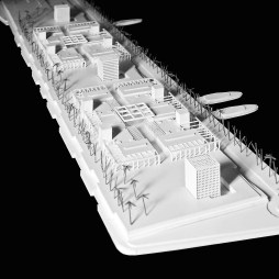 Model for OAB Office of Architecture Barcelona - Tangier Marina (Tangier, Morocco)