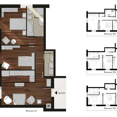 Interior design for private house (Cagliari, Italy)