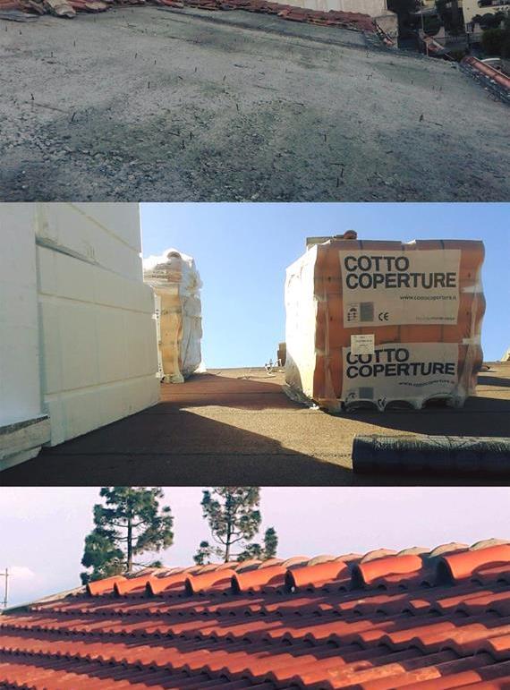 Stato di fatto e ricostruzione con tetto ventilato